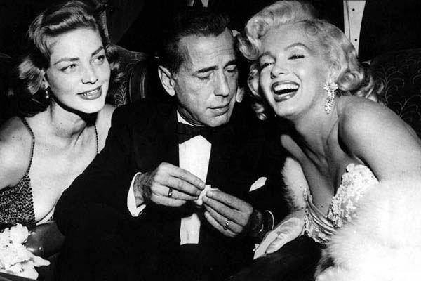 Humphrey-Bogart-Bacall-Monroe